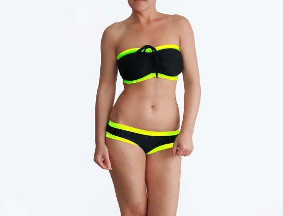 Best Black Bikini Big Busted Swimsuit Busty Bathing Suit | Etsy