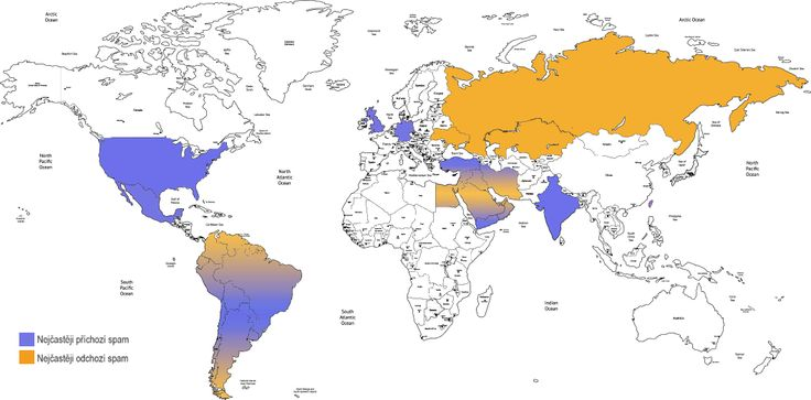 #spam #map světa pro Seznam.cz Email. Odkud chodí nejvíc nevyžádané pošty?