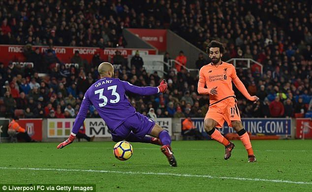 Mohamed Salah solidified Liverpool's 3-0 win over the Potters on Wednesday night