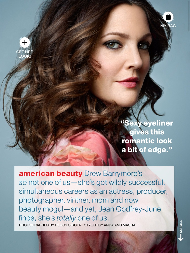Drew Barrymore Hair 2013