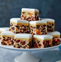 """Makes 28Mary Berry says: """"This recipe was thought up by Lucy, my assistant. Quick to prepare and easy to share – make in a traybake, cut into squares and it is perfect for a small tea or as a canapé. ..."""