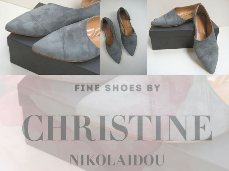"""dame"" is  a #Pointy-toe #flat. shoe. Designed and handcrafted by Christina Nikolaidou Made with #suede #leather upper,leather linning and single leather sole.  #aw2016/17 collection.  https://www.facebook.com/chistine.nikolaidou/"