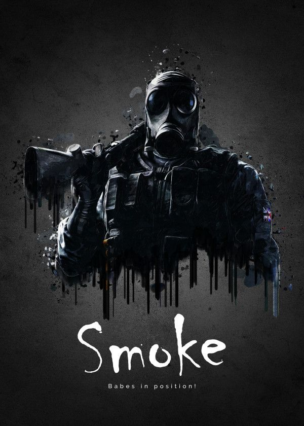 "Rainbow Six Siege Characters Smoke #Displate artwork by artist ""TraXim"". Part of a 33-piece set featuring artwork based on characters from the popular Rainbow Six video game. £37 / $49 per poster (Regular size), £74 / $98 per poster (Large size) #RainbowSix #RainbowSixSiege #TomClancy #TomClancysRainbowSix #Rainbow6 #Rainbow6Siege #TomClancysRainbow6 #Ubisoft"