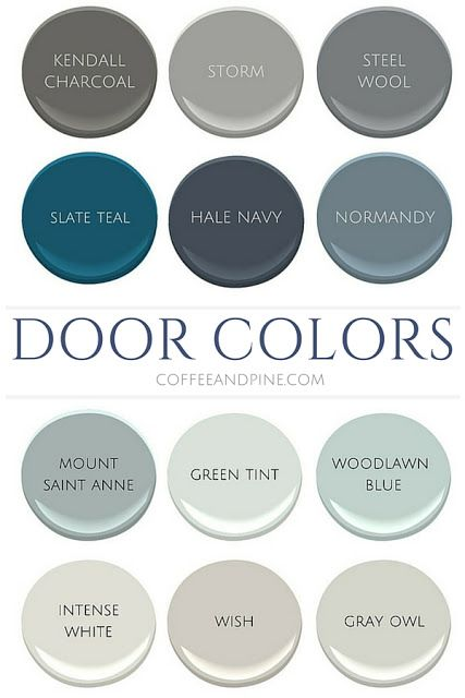Coffee and Pine: Interior Door Colors