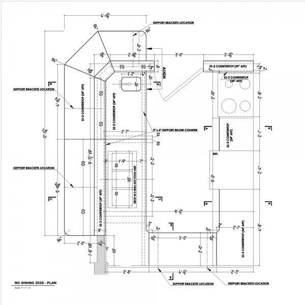 Countertop Shop Drawings Needed Asap Drawing Interior Bakery Design Interior Countertops