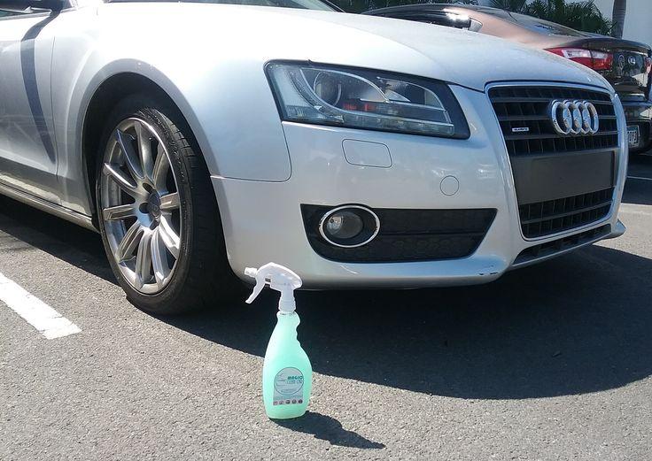 El #AUDI brilla de manera Espectacular con Magic Clean Car deja Tu Auto Limpio, Brillante y Protegido, sin utilizar una gota de AGUA #lavaenseco #lavasinagua #lavadodeautoenseco