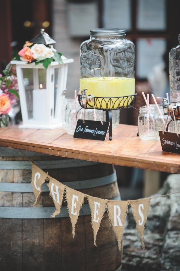 Wine Barrel Bar setup with @simplyperfect