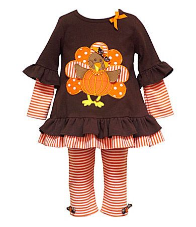 Check out how cute this turkey outfit is for Thanksgiving! #Thanksgiving2015