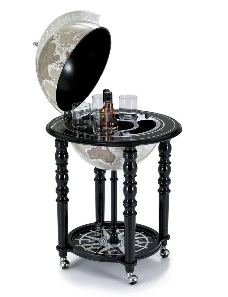 MacArthur Black Genuine Italian Bar Globe