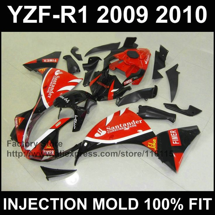 391.92$  Watch here - http://ali078.shopchina.info/1/go.php?t=32353659907 - Custom free Injection molded ABS  fairings kit for YAMAHA 2009 2010 2011 YZFR1 09 10 11 YZF1000 red santander YZF R1 fairing set  #magazineonline
