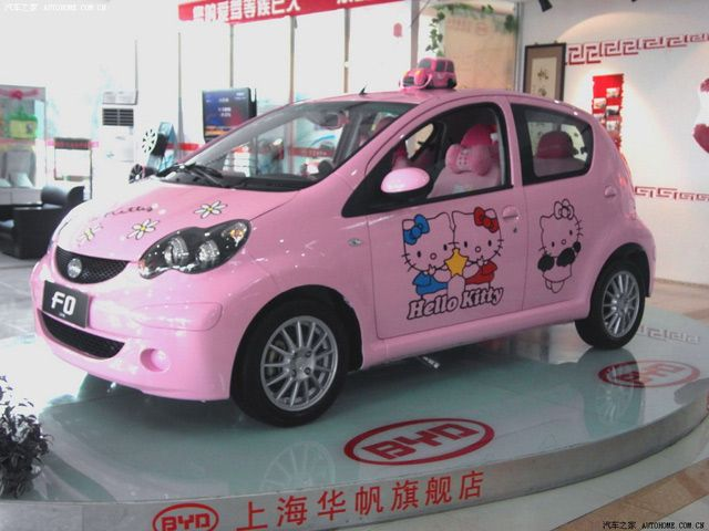 The Hello Kitty Car in China