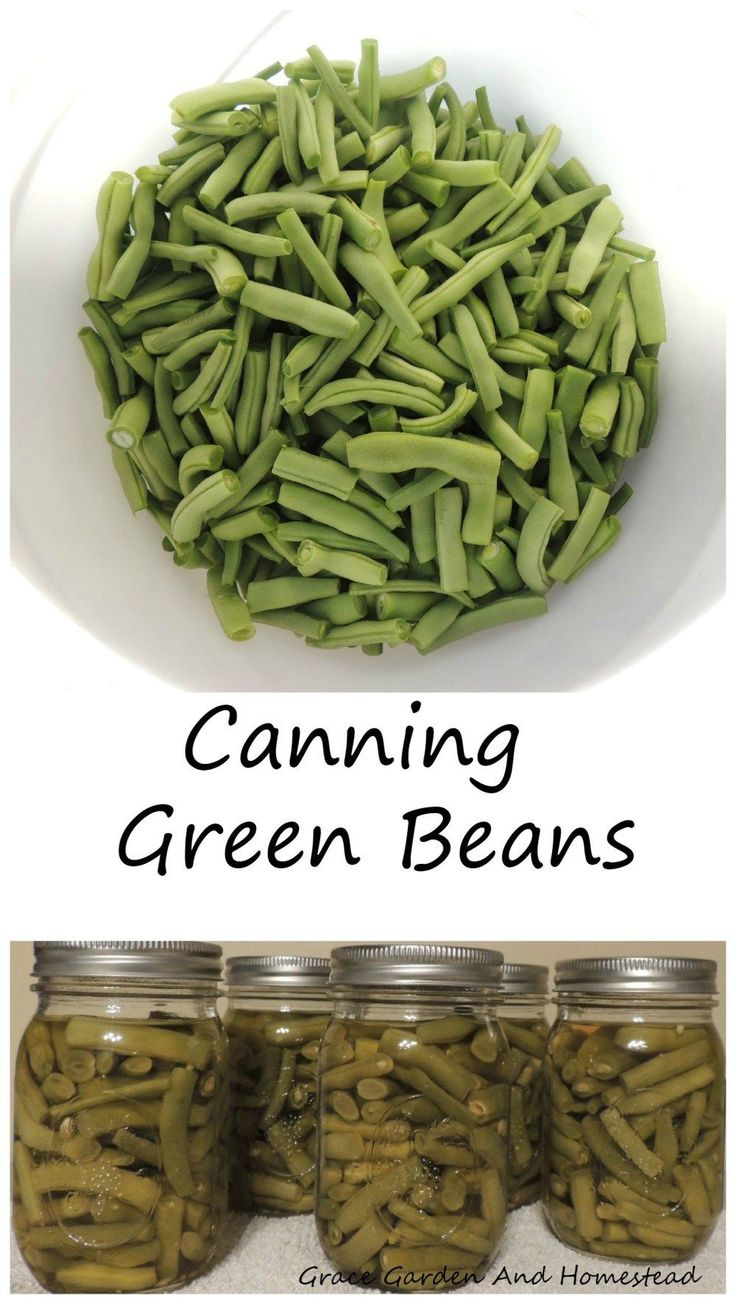 How to can green beans. Raw pack method. Chart for altitude adjustment included. Pictures are helpful for beginners.