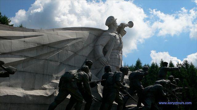 PAEKDU, Lake Samji sculptures of the anti-Japanese guerillas