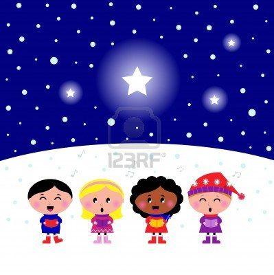 """Kids singing Silent Night Christmas melody."" Photographer: Jana Guothova / #Lordalea #123rf #Illustration"