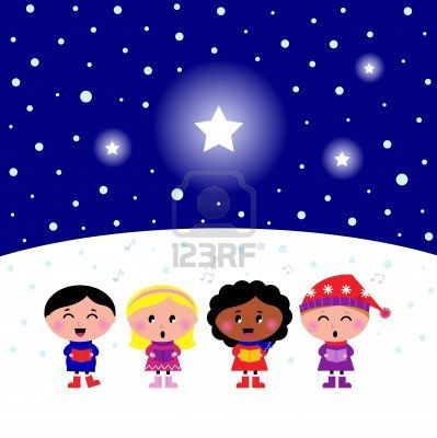 """Kids singing Silent Night Christmas melody."" Photographer: Jana Guothova / #Lordalea #123rf #Illustration"