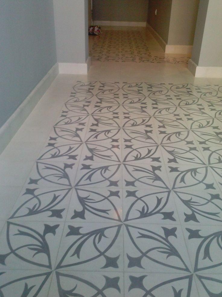 Suelo hidraulico salon y pasillo tiles losas - Suelos para salon ...