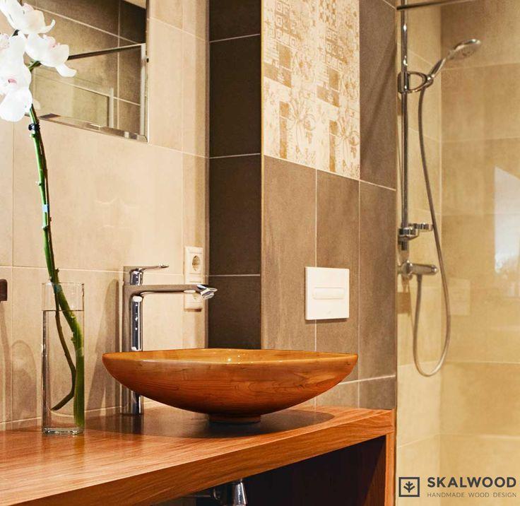 #skalwood #umywalka #design # wood #bathroom #washbasin #drewno