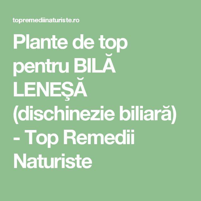Plante de top pentru BILĂ LENEŞĂ (dischinezie biliară) - Top Remedii Naturiste