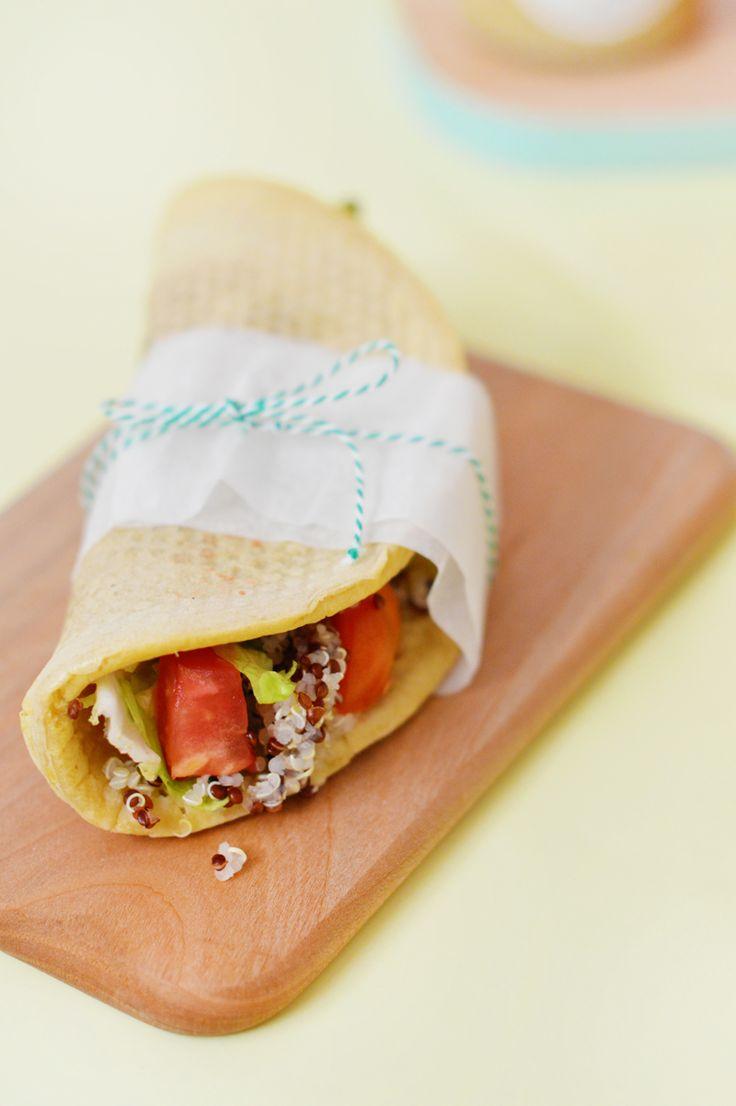 Wraps vegan et sans gluten aux légumes et quinoa - www.sweetandsour.fr Sweet & Sour | Healthy & Happy Living