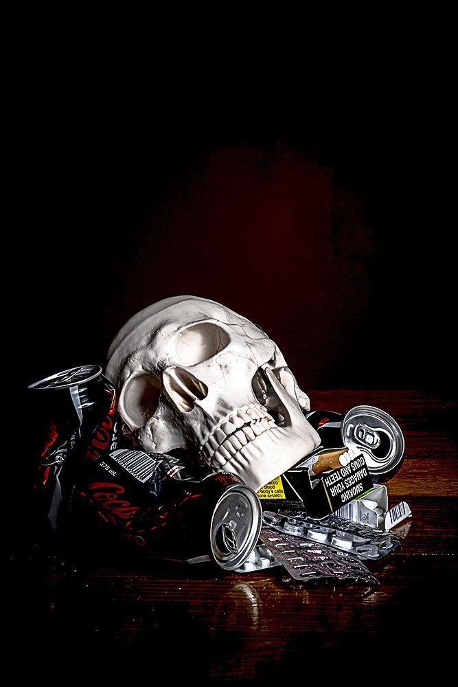 UNTITLED still life photograph by #CheechSanchez 2014 #skull #skulls skulls…