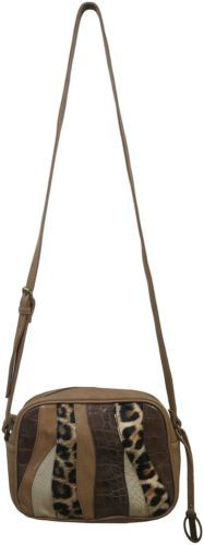 Carlos By Carlos Santana Melodia Camera Handbag Bag Purse Taupe