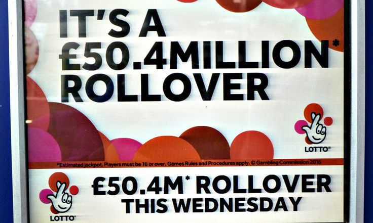 Britain's largest ever Lotto jackpot, the result of 13 successive rollovers: But the prize must be shared out at lower odds on Saturday's draw if it is not won outright. With no ticket matching six numbers on Wednesday, it must be won outright or shared out at the next draw.