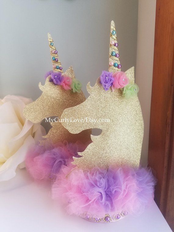 Unicorn Centerpiece Unicorn Birthday Unicorn Baby Shower Centerpiece