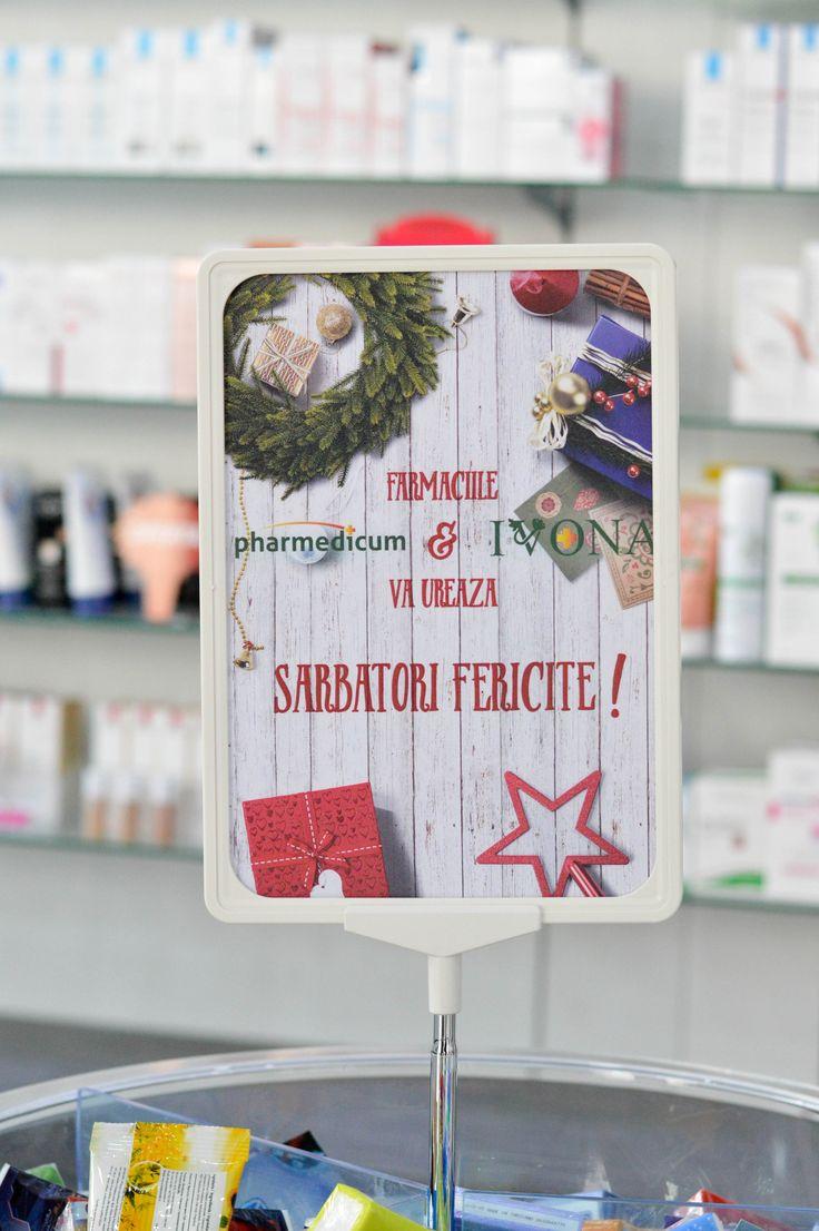 "Afis A4 - tematica iarna - ""Sarbatori Fericite"""