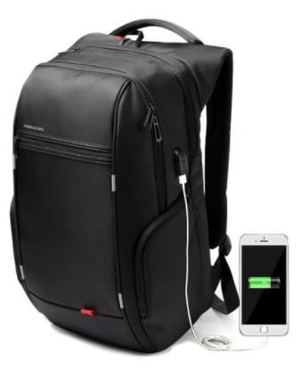 Waterproof Laptop Backpack With External USB Charger