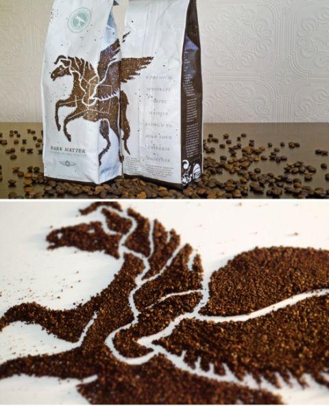 "Astronaut Studio's ""Dark Matter"" coffee"