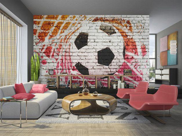 Tapeten - Vlies fototapete 350x245 Fussball 10110902-4 - ein Designerstück von design4art bei DaWanda #tapete #fototapete #fussball