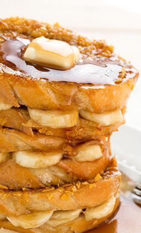 Banana Stuffed French Toast | Recipe