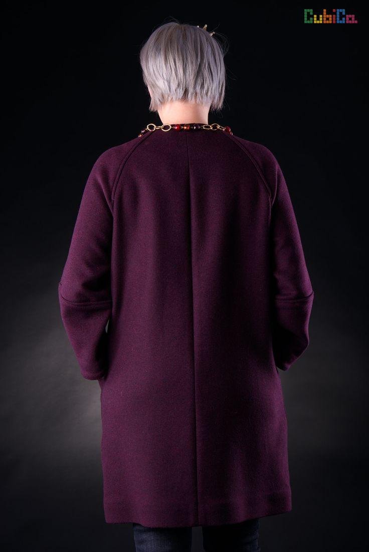 Irene wool overcoat murano collar CubiCa Peculiar collection