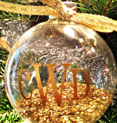 Easy Homemade Christmas Gift Ideas -  Monogram Ornament - Click pic for 25 DIY Inexpensive Christmas Gifts for Kids