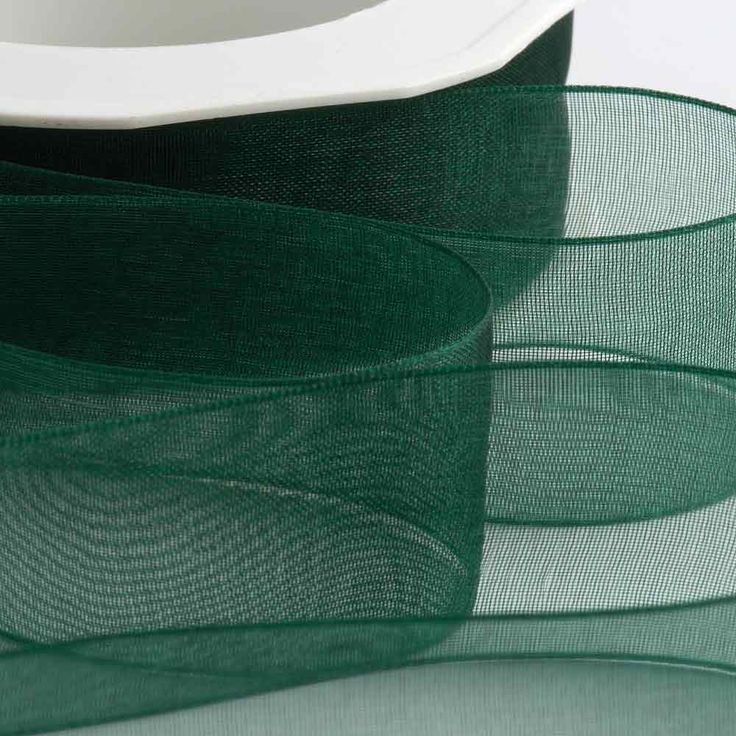 Dark Green Organza Ribbon