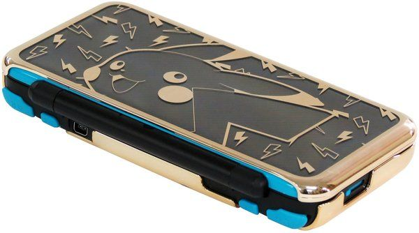 HORI New 2DS XL Pikachu Premium Protector on the way   - Two piece (top/bottom) protector for the New 2DS XL - Special gold finish for premium accents - Pikachu artwork and designs - Easy to attach and remove - Officially Licensed by Nintendo and Pokemon  Grab yours here  from GoNintendo Video Games