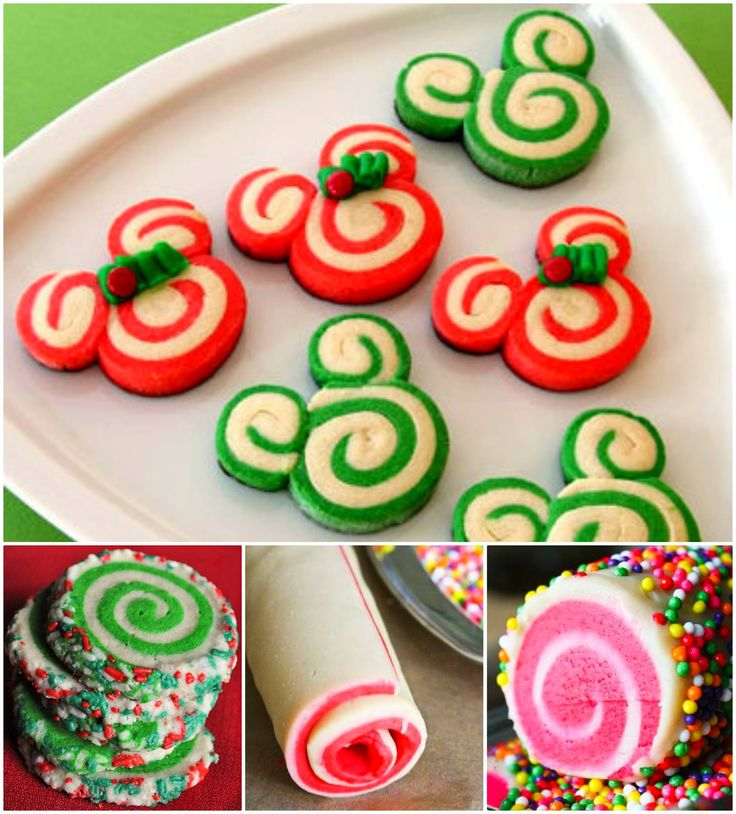 Mickey and Minnie Mouse Peppermint Swirls