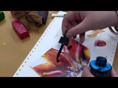 """▶ Encaustic Blumentechnik """"Floral"""" - YouTube Foreign language but the demo technique is clear. Need to try it."""