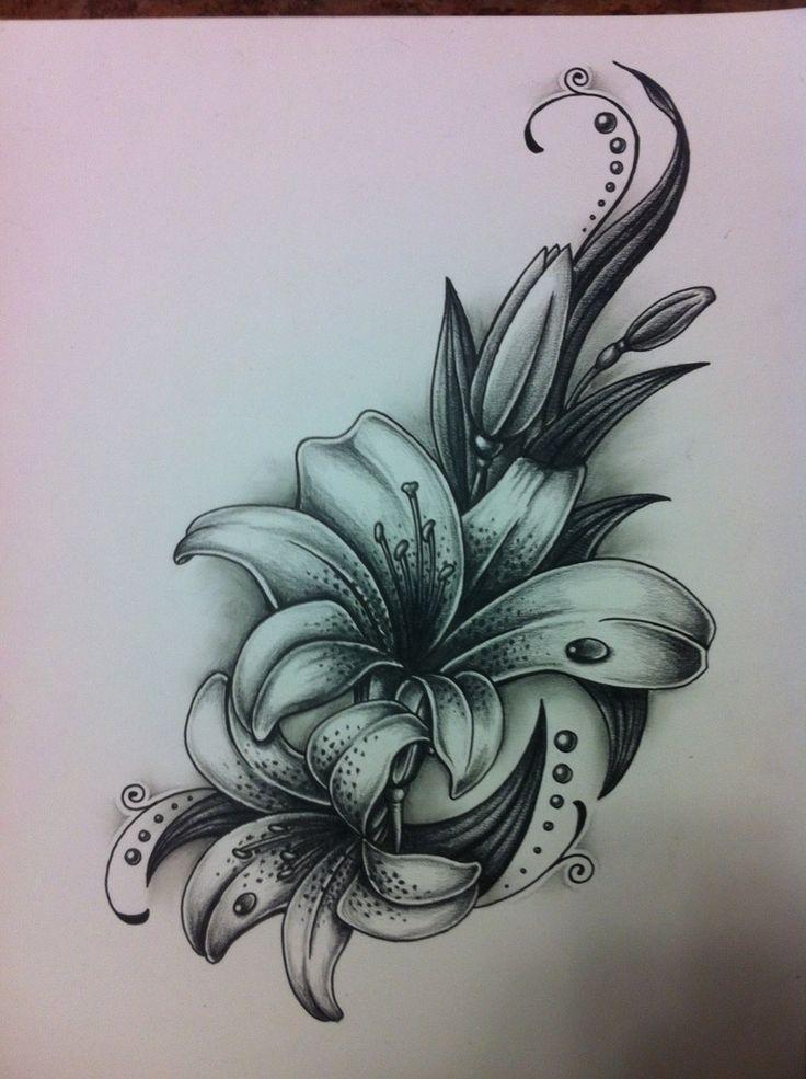 Лилия картинки для татуировок