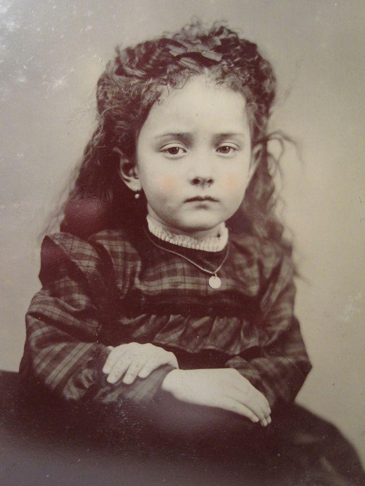 Antique American Victorian Beauty Angel Girl Emotions Sad Eyes Tintype Photo | eBay