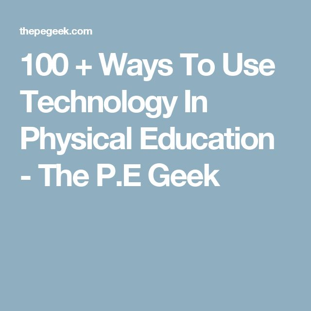 The P.E. Geek website has a lot of useful information.  This particular link goes to a downloadable ebook with ways to utilize technology in PE.