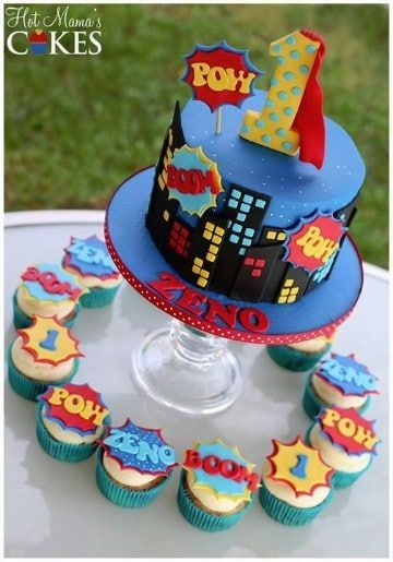 cupcakes de superheroes faciles
