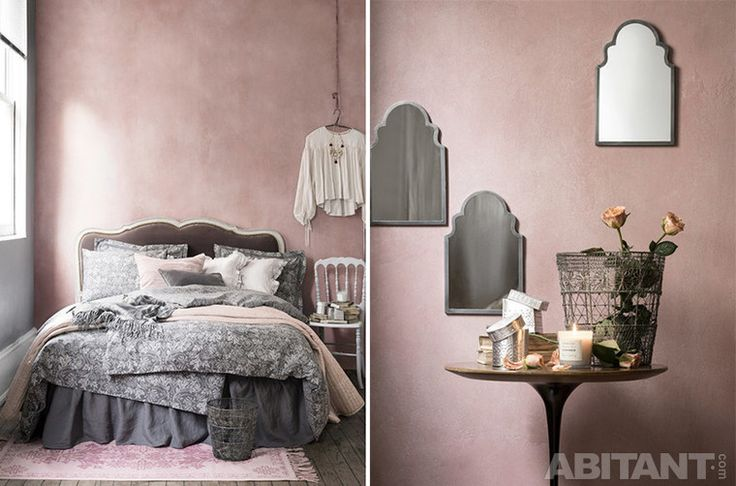 Романтичная розовая спальня
