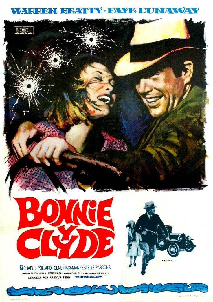 Bonnie y Clyde (título original en inglés: Bonnie and Clyde) es una película de gánsteres estadounidense de 1967 dirigida por Arthur Penn, con Warren Beatty y Faye Dunaway en los papeles principales. https://es.wikipedia.org/wiki/Bonnie_y_Clyde_(pel%C3%ADcula)