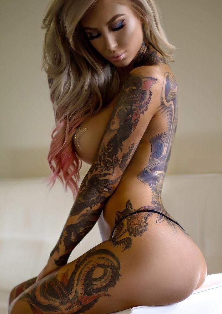 Tattooed asian beauty does great job 6