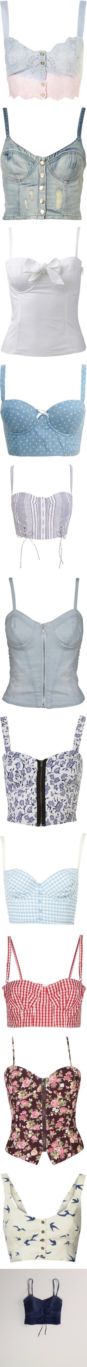 Would be cute with a see through button up, cardigan, or vest over it. There are so many ideas. (corset tops)