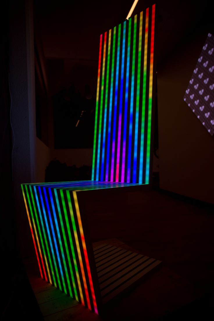 #LED #rainbow #throne #chairart #darkonlighting