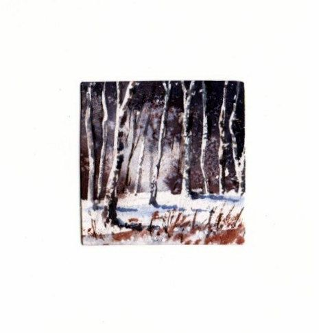 Hand Painted Card - Winter woods a2 by WendyPowellJonesArt on Etsy