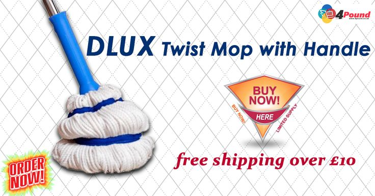 Buy DLUX Twist Mop With Handle at #4pound.Get 50% Discount Here!!!