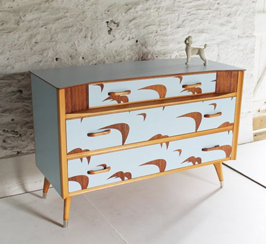 Upcycled: Bluebird chest of drawers by Cornwall designer Lucy Turner.